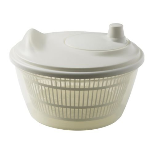 Ikea 601.486.78 Tokig - Escurridor de ensalada, color blanco