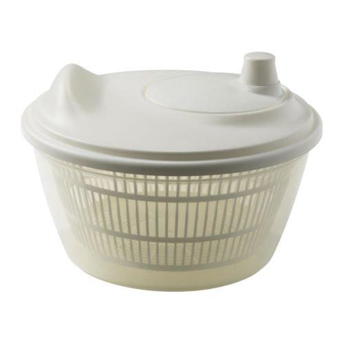 3 X Ikea 601.486.78 Tokig Salad Spinner, White