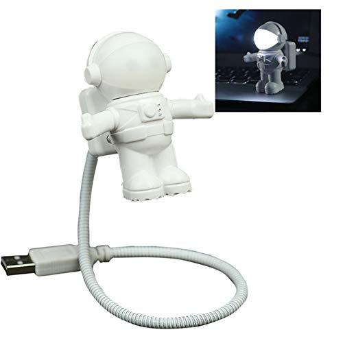 XHSHLID LED-nachtlamp met LED-lampen, wit, astronaut, 5 V gelijkstroom
