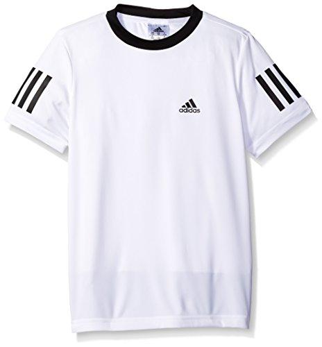 adidas Boys Tennis Club Tee, White, Medium