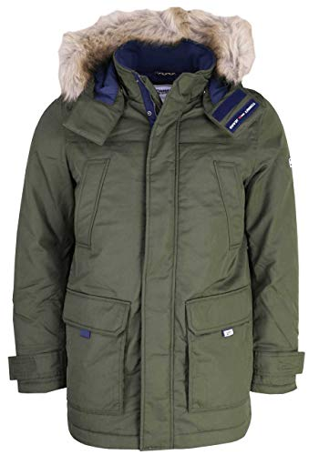 Tommy Jeans Herren TJM TECH PARKA Jacke, dark olive, XL