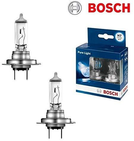 Bosch Pure Light H7 55W 12V Halogen Lampen Set original weiß Doppelbox 1987301406 Abblendlicht Fernlicht Nebelscheinwerfer