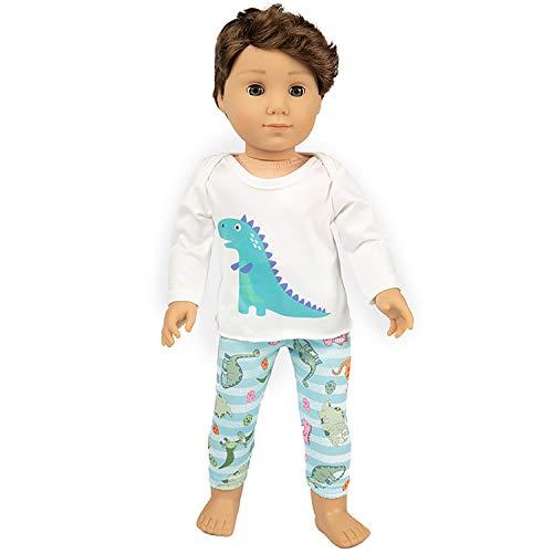 Ecore Fun American 18 Inch Boy Girl Doll Clothes Pajamas Tracksuit for 18 Inch Boy Doll or Girl Doll - Birthday Reward Gift