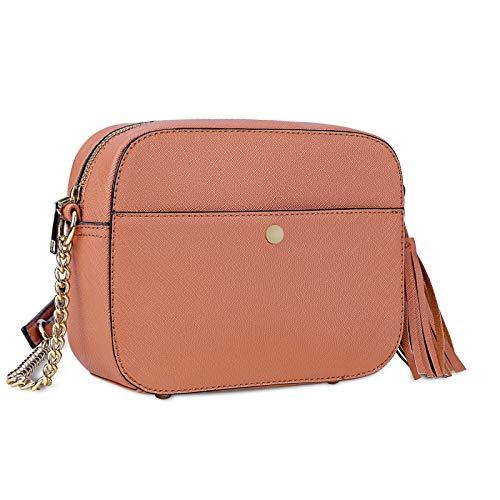NEWHEY Borsa a Tracolla Borsa Donna Piccola PU Pelle Messenger Crossbody Bag Elegante Shopping Lavoro Viaggio Sacchetto Borsello Marrone