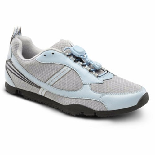 Dr. Comfort Sandy Womens Sneaker Light Blue X-Wide Size 10