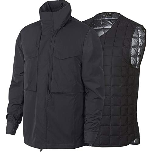 Nike Sportswear Tech Pack Synthetic-Fill Jacket (Anthracite/Black, Medium)