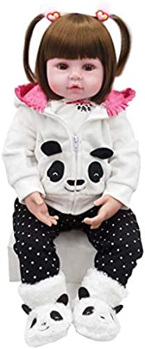 Kofun Wiedergeborenes Neugeborenes Baby Realike Puppe Handgemachtes Lebensechtes Silikon,  nda Coat Schuhe Cute Toys Frühe Kindheit Ideale Weißachtsgeburtstags-Puppe Für Kinder 22 Zoll 56cm