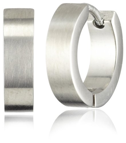 Pure Grey 4872 Unisex Creole Earrings Titanium