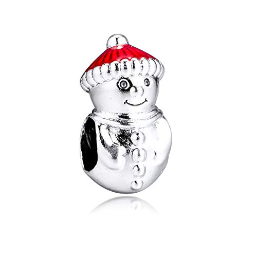 PANDOCCI 2019 Pupazzo Di Neve Invernale E Cappello Di Natale In Argento 925 Fai Da Te Adatto Per Bracciali Pandora Originali Con Ciondoli E Gioielli Di Moda