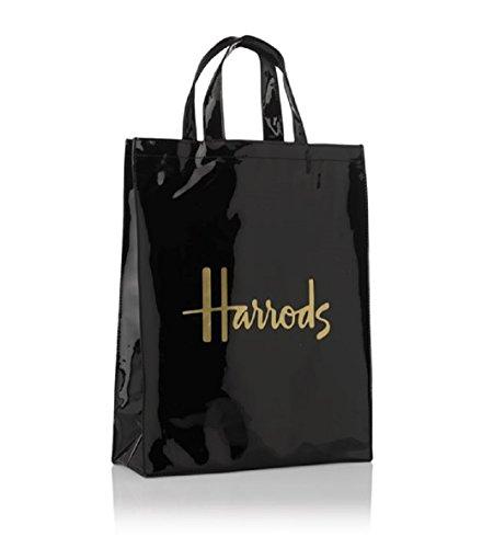 harrods Medium Logo Shopper Bag - Borsa a mano in PVC con fodera in poliestere - chiusura borsa con bottone magnetico tasca interna con zip e taschino porta cellulare ID 1384864