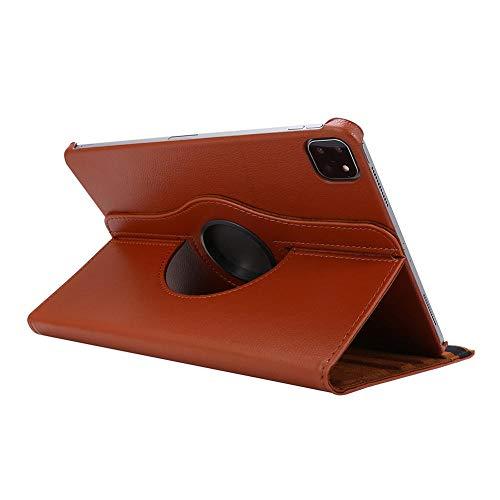 Funda para Nuevo iPad Pro de 11 Pulgadas, Segunda Funda 2020 A2068 A2228 A2230 Funda giratoria de Cuero de PU giratoria de 360 Grados para iPad Pro 2020-Brown_Pro_11_2020