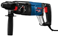 3 modes: Multi-function selector offers 3 modes of operation; Rotation only, rotary hammer, and hammer only mode; Variable speed trigger with reverse offers accurate bit starting or easy fastener removing Ease of use: The Bulldog Xtreme Bosch Drill h...