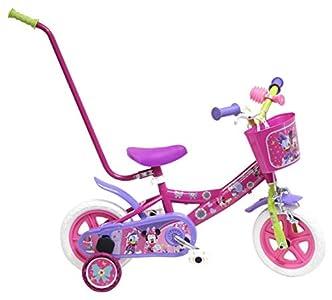 Disney Bicicleta Niño Minnie con Barra de Aprendizaje 10 pulg Rosa 2-4 años