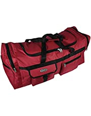 Grote sporttas, XL, 110 l, voor sport, fitnessstudio, reizen, camping, opslag, waterdicht, rood