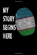 """My Story Begins Here: Journal / Notebook / Diary Gift - 6""""x9"""" - 120 pages - White Lined Paper - Matte Cover"""