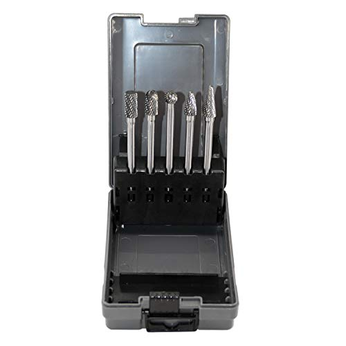 5pcs Tungsten Carbide Burrs Set with 1/4''Shank Double...