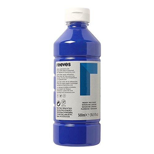 Reeves 4551044 Ready Mix Flasche, 500ml, flüssige Tempera der Spitzenklasse, intensive Farbe - brillantblau