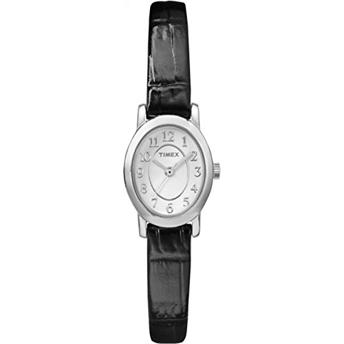 Timex Women's TW2P60400 Cavatina Black Croco Pattern Leather Strap Watch
