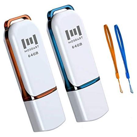 Gigaram 64GB USB 2.0 FlashDrive 26.1//5.6MB//s Rectangular with cap Silver Bulk Retail