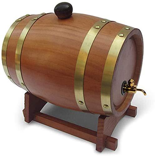 DGSD 1,5-Liter-Fass Fass Bier mit Handgemachten Eichenfass Wein und Whisky in Wohnkultur gespeichert gemacht,Brown