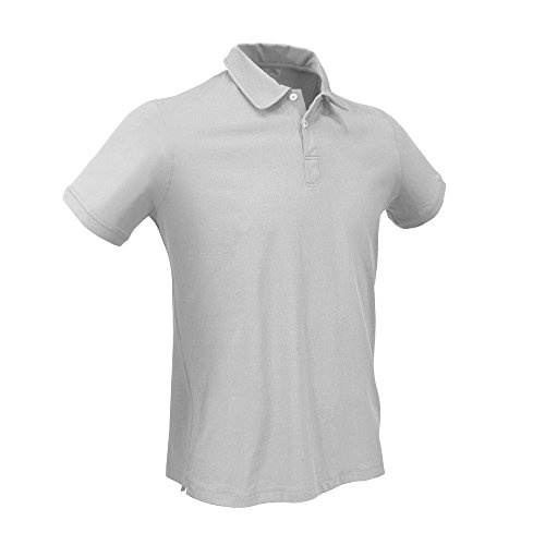 SLAM Homme Superyacht Collection Hommes 150gr Techno Piquet Col.160 Gris clair Manches Courtes '14 Polo Paterson Small
