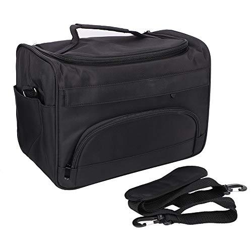 Professionele kappers-gereedschap-draagtas, kappers-gereedschap-tas, kappers-handtas, draagbare schaar-kam-houder, kapperskoffer, reisbagagetas, zwart
