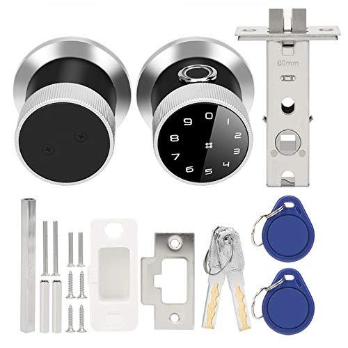 Bloqueo de código de tarjeta de desbloqueo Antirrobo Aleación de zinc Cerradura inteligente Cerradura de huella digital Cerradura de puerta electrónica digital con llaves mecánicas para
