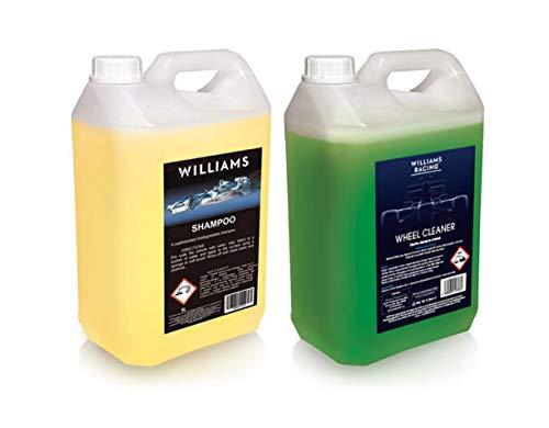 Williams Racing Car Cleaning Bundle 5L Williams Car Shampoo + 5L Non-Acidic...