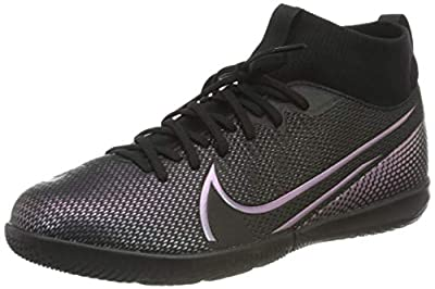 Nike Youth Mercurial Superfly 7 Academy Indoor Soccer Shoes (5 Big Kid, Black/Cool Grey)