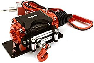 Integy RC Model Hop-ups C27161RED Billet Machined T3 Realistic Mega Winch for Scale Rock Crawler 1/10 Size