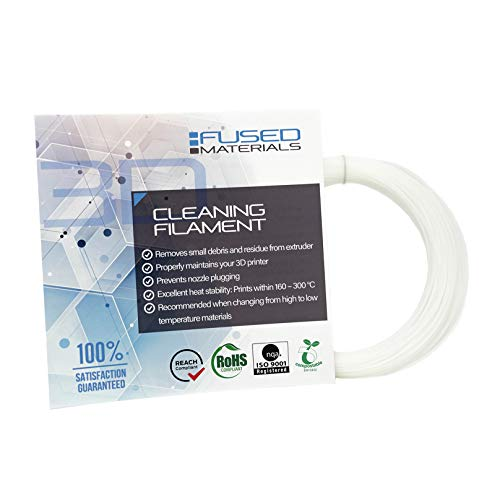 Fused Materials 3D Printer Cleaning Filament, 1.75mm - Works with FDM 3D Printers and 3D Pens - 0.1kg Roll