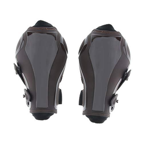 Toygogo 1 Paar Sehnenschoner Pferde Gamaschen für vorne und hinten Stiefel - Braune Rückseite