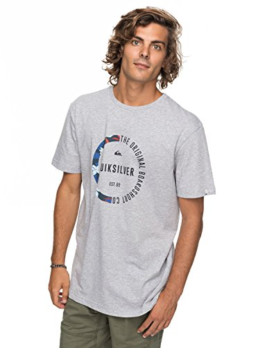 Quiksilver Ssclassirevenge Sgrh T-Shirt Homme, Highrise/Heather, FR : S (Taille Fabricant : S)