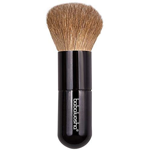 Hzyig Blush Brush Portable Laine Stretch Lâche Poudre Poudre De Miel Brosse De Réparation Brillant Smudge Brosse Brosse De Maquillage Brosse Cheveux Animaux Étirement Brosse (Color : 1001)