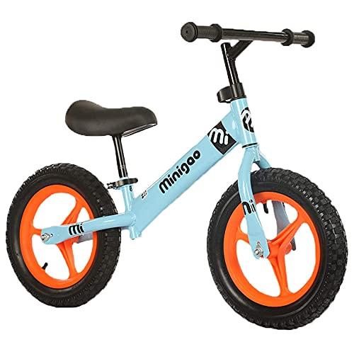 XGYUII Bicicleta de acero al carbono de alta carga para niños sin pedal adecuada para niños de 2 a 6 años de edad andador de entrenamiento de bicicleta de equilibrio rojo azul