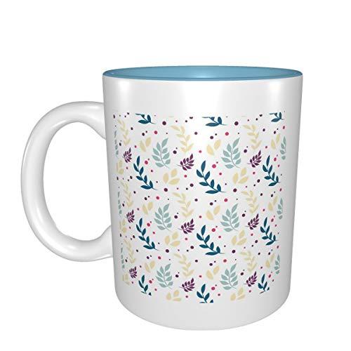 Regalo de cumpleaños para tazas de porcelana con diseño de lunares florales.