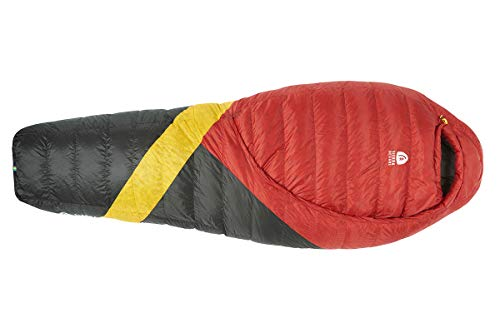 Sierra Designs Cloud 20 Degree DriDown Sleeping Bag Ultralight Zipperless Down Sleeping Bag for Backpacking and Camping - Regular