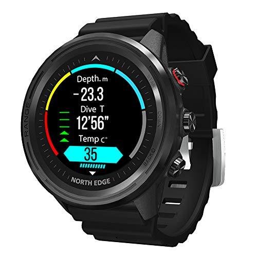 Reloj Inteligente GPS, rastreador de Ejercicios con Reproductor de música, Monitor de Ritmo cardíaco y sueño, Contador de Pasos, Reloj Digital Resistente al Agua Compatible con iOS Android
