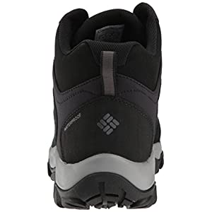 Columbia Men's Buxton Peak MID Waterproof Hiking Boot, Black, lux, 7 Regular US
