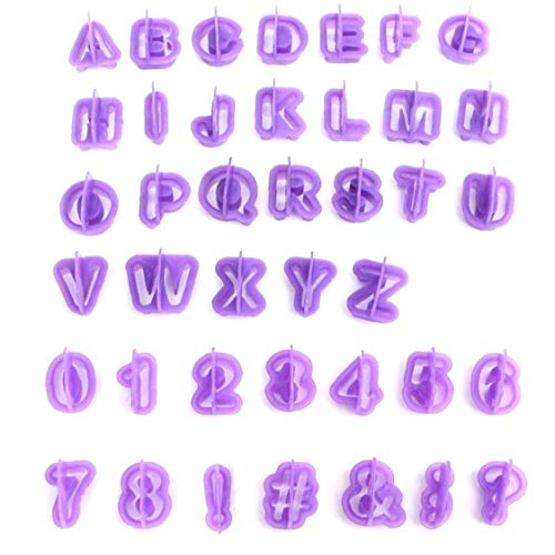Fivesix Molde de la Galleta del Molde de la Galleta alfanumérica Número de Letra del Alfabeto del Molde de Cocina hornada de la Galleta 40PCS del Molde, Suministros de Cocina