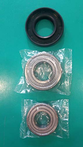 Kit cuscinetti + guarnizione para acqua lavatrice 35×65.55×10 12 6205ZZ SKF + 6206ZZ SKF