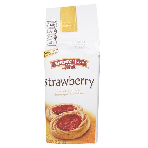 Pepperidge Farm Cookie Collections Strawberry Thumbprint Cookies, 6.75 Ounce Bag