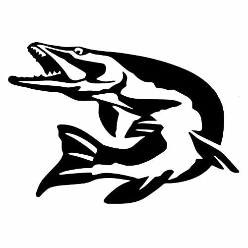 WZHLI Etiqueta engomada del Coche Pegatina de Peces del Norte Interesante Decoración del Coche Decal de PVC Funda Impermeable Scratch Negro/Blanco, 16 cm X 11cm (Color Name : Black)