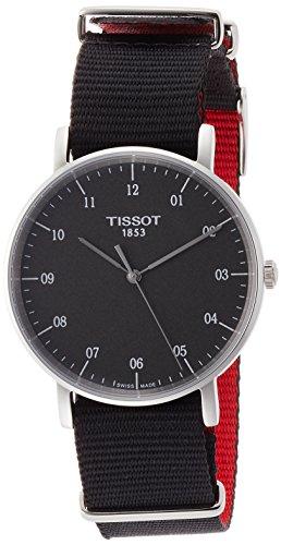 Tissot Herren Analog Quarz Everytime Medium Nato Armbanduhr mit Textil Armband T1094101707700