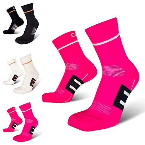 Hochwertige Laufsocken, perfekte Passform und höchster Komfort, Fußgewölbestütze, Anti-Blasenbildung, ideal für Laufen, Joggen, Radsport, Fitness und Alltag, Hergestellt in der EU (39-42)