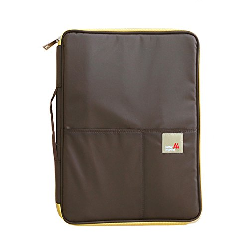 Better Together A4 Ver.03 - Multi-Functional Padfolio Portfolio Organizer - Travel Pouch for Ipads, Notebooks, Pens, Documents (Brown)