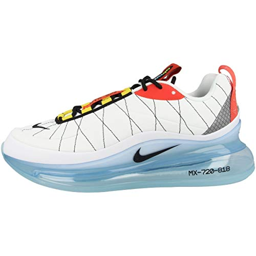 Nike Herren MX-720-818 Laufschuh, White Black Speed Yellow Chile Red Bleached Aqua, 42 EU