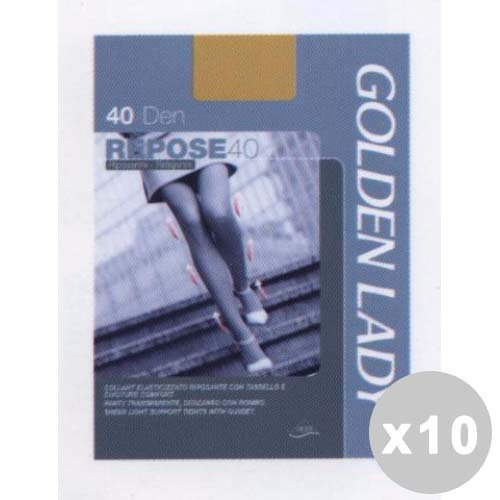 Golden Lady Repose Lot 10 Repose Collants 40 Den Marron Castor Taille XL 36 g