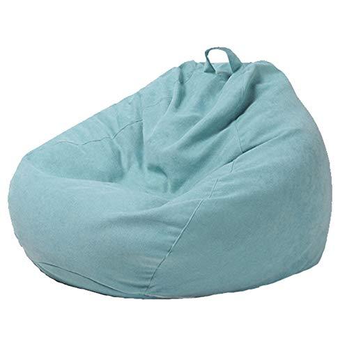 WXFN Lazy Sofa Freizeit Stoffbezug (Ohne Füllung) Hergestellt Aus Bequemem Polyester-Kurzflorstoff Mit Langem Reißverschluss,Light Blue,XXL