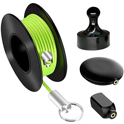 Enhebrador de alambre oculto para tubos de nylon, alambre de plomo, tirador...